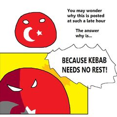 Kebab is no need rest