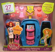 Polly Pocket Groovy Getaway Suitcase Surprise Lea