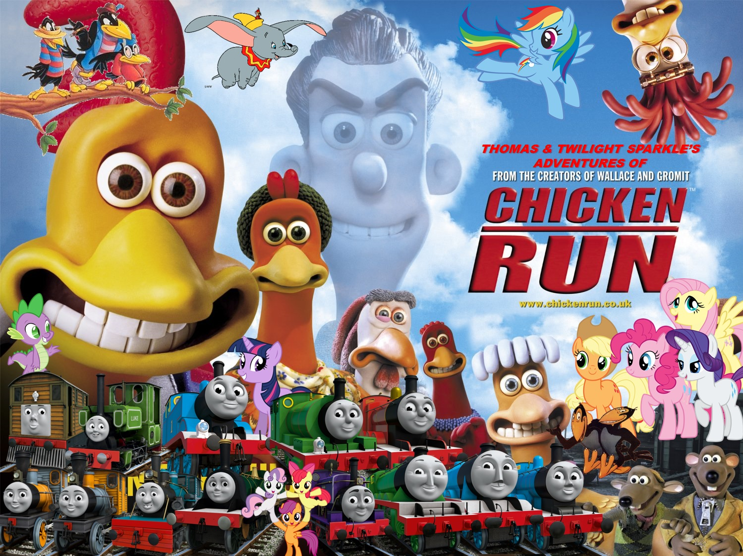 Thomas and Twilight Sparkle's Adventures of Chicken Run Poster 2