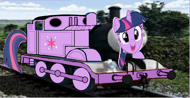 File:MLP Twilight Sparkle as a Thomas and friends character.png