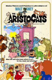 Simba Timon and Pumbaa's adventures of The Aristocats Poster