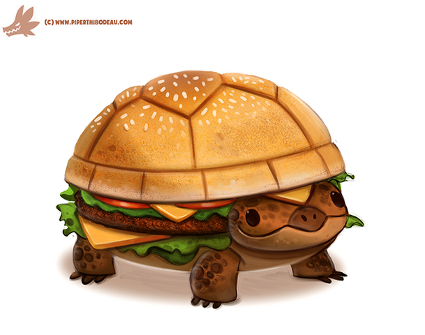 File:Daily paint 1098 turtle burger by cryptid creations-d9htf5u.png