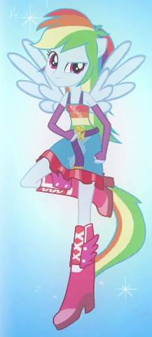 File:Rainbow Dash's half-pony form.png