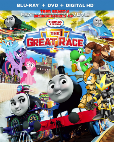 File:Team Robot's Misadventures Of Thomas & Friends - The Great Race Poster.png