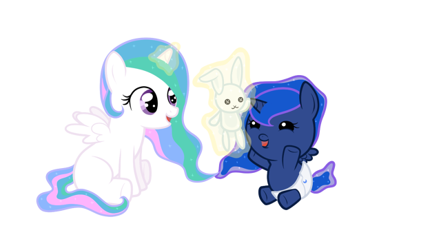 File:Baby Cellestia playing with baby Luna.png