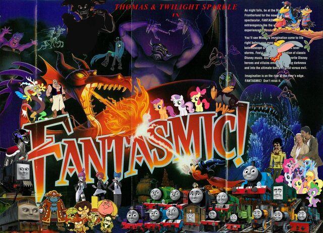 File:Thomas and Twilight Sparkle in Fantasmic (Disneyland Version) Poster.jpg