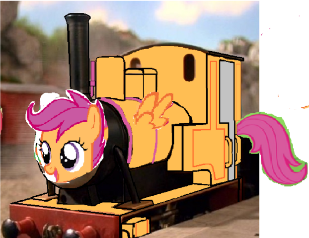 File:MLP Scootaloo as Thomas character II.png