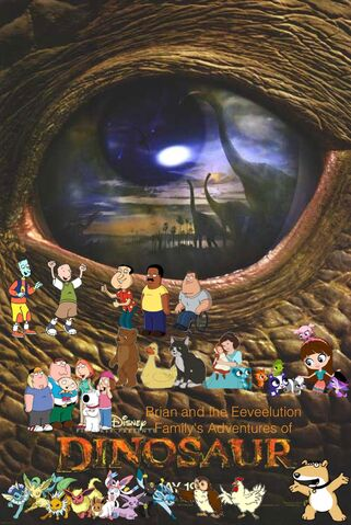 File:Brian and the Eeveelution Family's Adventures of Dinosaur poster.jpg