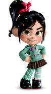Vanellope with a CMC button