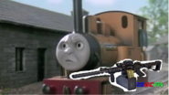 Duncan with gun