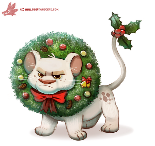 File:Daily paint 1125 wreath lion by cryptid creations-d9kux6q.png
