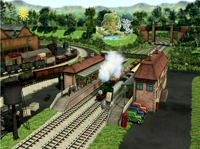 File:Wellsworth and Fluttershy's Cottage.png