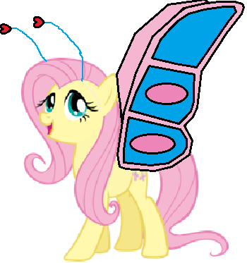 File:Fluttershy as a butterfly.png