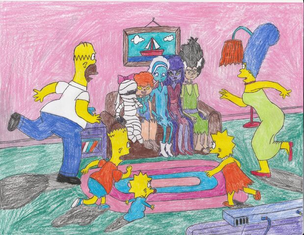 File:The grimwood girls sitting on the simpsons couch by yakkowarnermovies101-d8l49w4.jpg