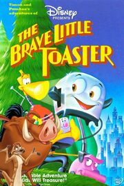 Timon and Pumbaa's adventures of The Brave Little Toaster Poster