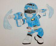 Willie Winkle as turbo blue ranger