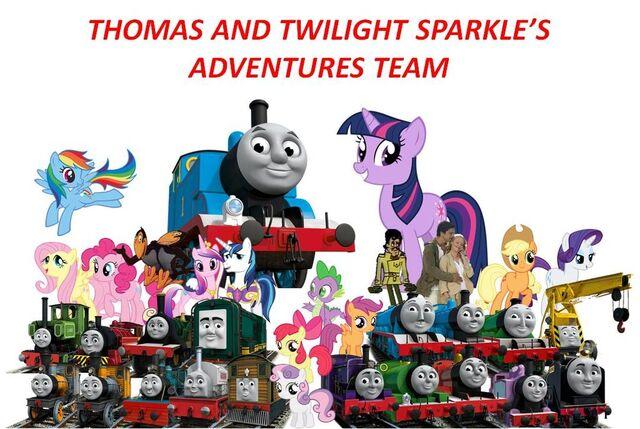 File:Thomas and Twilight Sparkle's Adventures Team.jpg