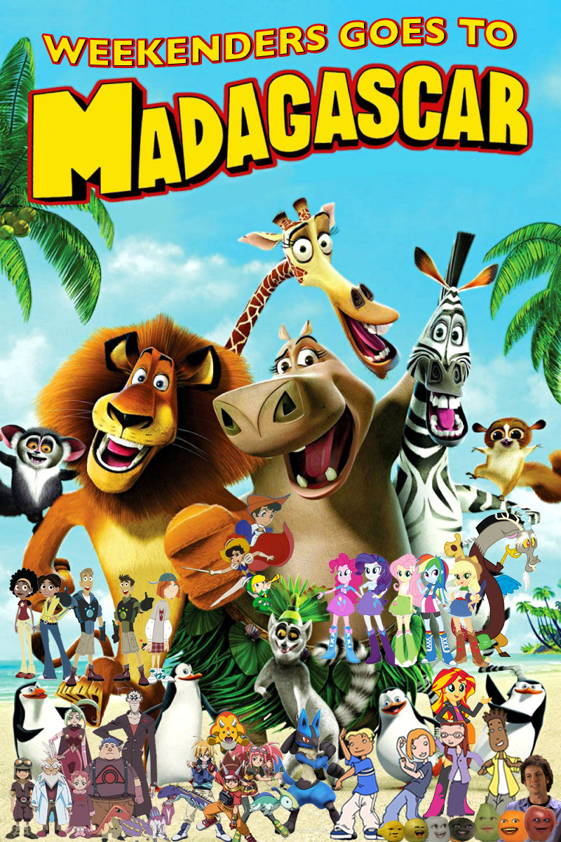 Kyle home dreamworks animation wiki fandom powered by wikia - File Weekenders Goes To Madagascar Poster Jpg