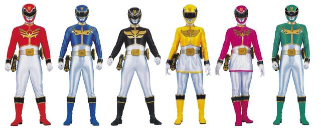 File:Six Megaforce Rangers.png