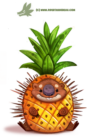 File:Daily paint 1174 porcupine apple by cryptid creations-d9qy1au.png