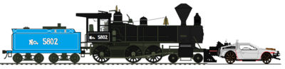 Locomotive 5802 with DeLorean