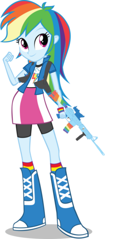 File:EQG Rainbow with her weapons.png
