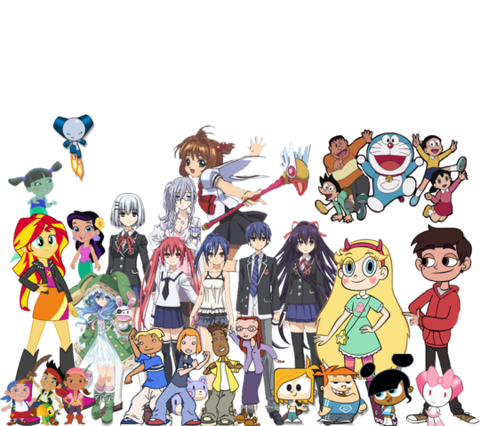 File:Weekenders Adventures Team (excluding Godou and his friends).png
