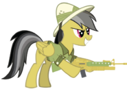 Daring Do with her M16