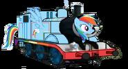 MLP Rainbow Dash as a Thomas character