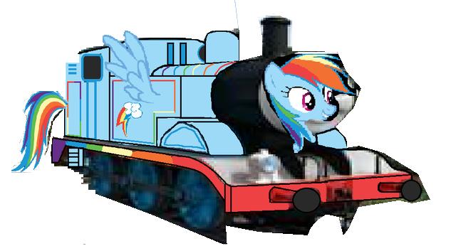 File:MLP Rainbow Dash as a Thomas character.png