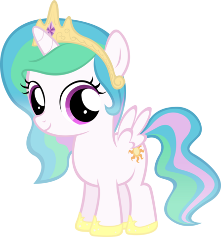 File:Princess Celestia as a young filly.png