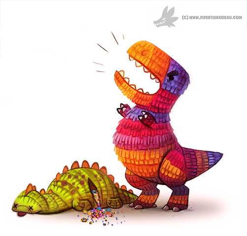 File:Daily painting 948 pinata dinos og by cryptid creations-d8ywsoj.png
