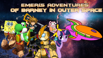Emerl's Adventures Of Barney in Outer Space Poster