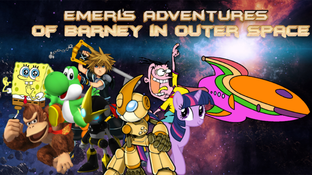 File:Emerl's Adventures Of Barney in Outer Space Poster.png