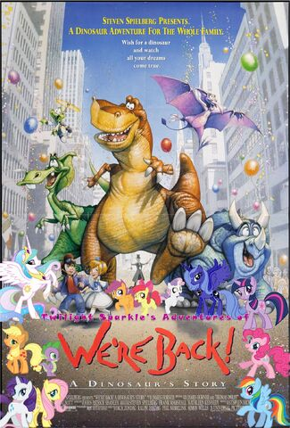 File:Twilight Sparkle's Adventures of We're Back! A Donosaur's Story Poster.jpg
