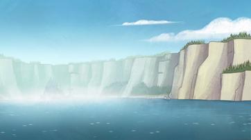Gravity Falls Lake
