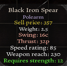 Black Iron Spear