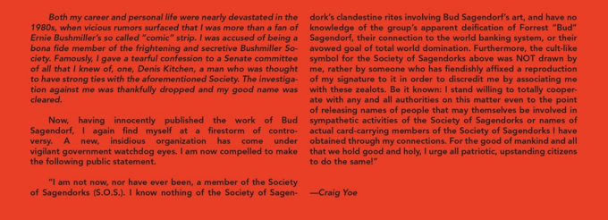 Craig Yoe statement