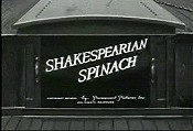 Shakspearian spinach