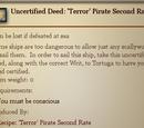 Uncertified Deed: 'Terror' Pirate Second Rate