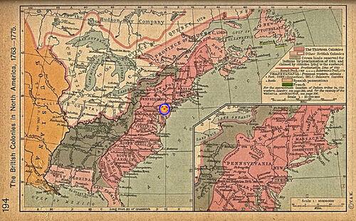 British colonies 1763-76