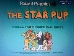 Title screen for The Star Pup