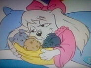 Lucy and her puppies
