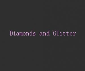 Diamonds and glitter title card