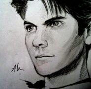 Wes bentley sketch 2 by annaoi-d3ggmev