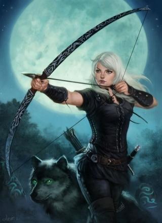 900x1317 13526 Obsidian Phoenix 2d fantasy archer girl woman picture image digital art