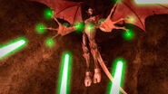 Kavaxas Shoots Green Lasers