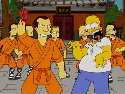 File:Shaolin monks tearing out Homer's heart.png