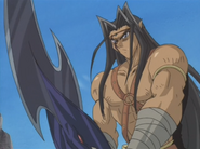 Gearfried the Swordsmaster Wielding Red-Eyes Black Dragon Sword