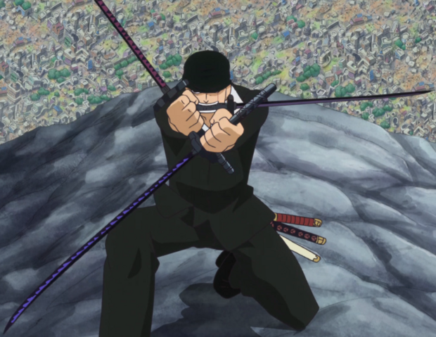 File:Zoro Using Busoshoku Haki.png